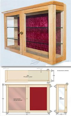 Wall Display Cabinet Plans - Furniture Plans and Projects | WoodArchivist.com