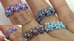 Rings Selber Machen Beaded Stackable Rings 3 More - Seed Bead Jewelry, Bead Jewellery, Jewelery, Jewelry Rings, Handmade Rings, Handmade Jewelry, Beaded Rings, Beaded Bracelets, Pandora Bracelets