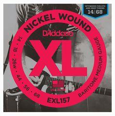 Review de las D'Addario EXL157 para guitarra barítona
