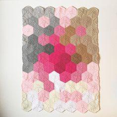olivesandpickles crochet hexi blanket