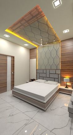 120 unordinary ceiling design ideas for your bedroom 34 Room Design Bedroom, Bedroom Cupboard Designs, Luxury Bedroom Design, Master Bedroom Interior, Modern Master Bedroom, Bedroom Furniture Design, Master Bedrooms, House Ceiling Design, Ceiling Design Living Room