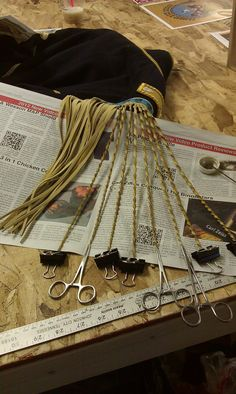 making twisty fringe on a re-make of general custer's coat