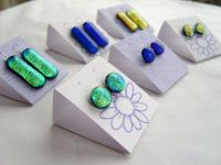 Lazy Daisy Glass: Tutorial - Earring Cards/Display