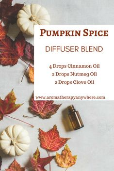 Pumpkin Spice Diffuser Blend This Classic Pumpkin Spice Essential Oil Blend is a fan favorite during the fall season. Just put the oils in your favorite diffuser, sit back and enjoy! Fall Essential Oils, Essential Oil Diffuser Blends, Essential Oil Uses, Young Living Essential Oils, Nutmeg Oil, Perfume Versace, Perfume Calvin Klein, Living Oils, Diffuser
