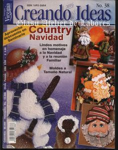 Clic en la portada para ver la revista Christmas Books, Christmas Time, Merry Christmas, Archive Books, Cross Stitch Books, Crafts To Do, Painting & Drawing, Blog, Diy