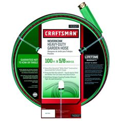 Craftsman Heavy Duty Neverkink Self-Straightening Hose - 100 ft - $24.99! - http://www.pinchingyourpennies.com/craftsman-heavy-duty-neverkink-self-straightening-hose-100-ft-24-99/ #100ft, #Craftsman, #Gardenhose, #Neverkink