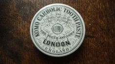 RARE LONDON CARBOLIC TOOTHPASTE POT LID