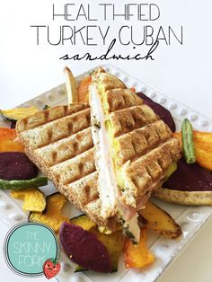 Healthified Turkey Cuban Sandwich — A light take on a classic! Well under 300 calories and perfectly de{light}ful.