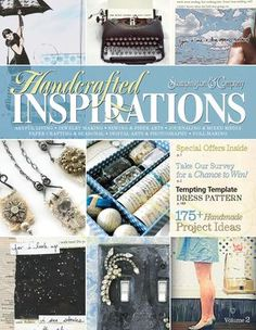 Handcrafted Inspirations Volume 2 Free Digital Magazine - Just went through the magazine, which is in flash format, and is printable, and it is AWESOME! There are tons of projects and beautiful photography! Book Crafts, Paper Crafts, Craft Books, Diy Crafts, Digital Art Beginner, Digital Art Photography, Free Magazines, Digital Magazine, Card Maker