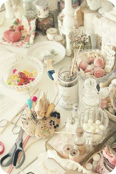 Photo of a Craft Room---- so pretty!