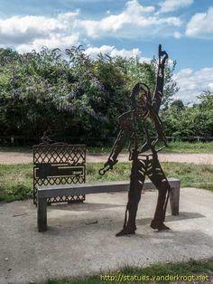 Portrait Bench in Dartford.  Mick Jagger  (Sustrans.org)