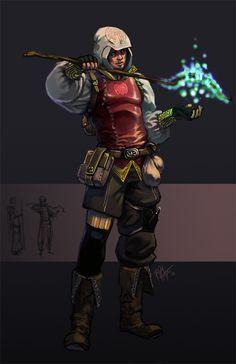 ThiefMage with a cheap staff by ~kasai on deviantART #rogue #sorcerer #wizard
