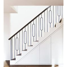Wood Railings For Stairs, Indoor Railing, Staircase Railing Design, Interior Stair Railing, Modern Stair Railing, Wood Handrail, Staircase Handrail, Iron Stair Railing, Home Stairs Design