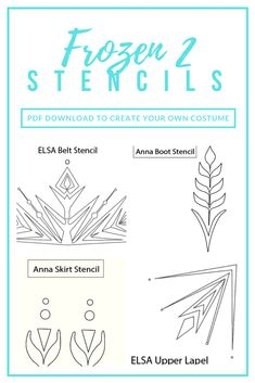 Use stencils to create costumes from the new Frozen movie! Frozen 2 Elsa Dress, Disney Frozen Elsa, Anna Frozen, Frozen Cake, Olaf Frozen, Frozen Cosplay, Elsa Cosplay, Frozen Costume, Star Wars Birthday