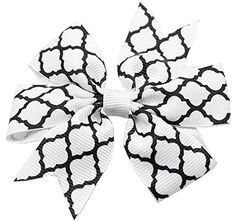Mirage Pet Products Hair Bow Quatrefoil French Barrette White *** See this great product.