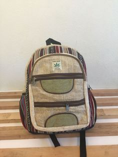 Natural Fabric Handmade Hemp School,College,Travel,Laptop Backpack(Free  Shipping USA) 1796356a76