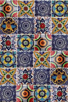 coloured patterened tiles - Google Search