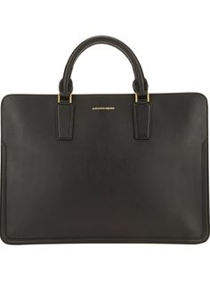 ALEXANDER MCQUEEN Designer Embossed Brief Case