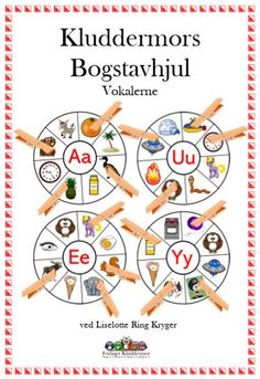 Bogstavhjul vokaler forsiden Cooperative Learning, Home Schooling, Speech And Language, Special Needs, First Grade, Classroom Management, Kids Playing, Teaching Resources, Preschool