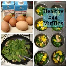 Egg muffins. Great breakfast choice. Plus they're 17 day diet compliant! yum! BTW, someone is out there re-pinning this image to their own link turning it into SPAM! This is the correct link to these yummy muffins! ENJOY!
