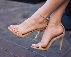 fff5add98b4e2 Nude strappy heels