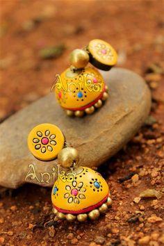 Funky Jewelry, Jewelry Model, Fashion Jewelry Necklaces, Handmade Jewelry, India Jewelry, Fashion Jewellery, Silver Jewelry, Terracotta Jewellery Online, Terracotta Jewellery Designs
