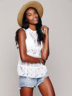 Free People Lady Bird Lace Tank, $78.00