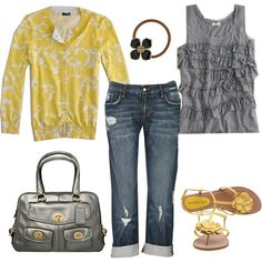 spring yellows, created by carrie2 on Polyvore