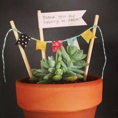 """""""Thanks for helping us grow"""" -Darling teacher appreciation gift"""