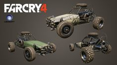Far Cry 4 Cars , Marilyn Girard on ArtStation at https://www.artstation.com/artwork/far-cry-4-cars