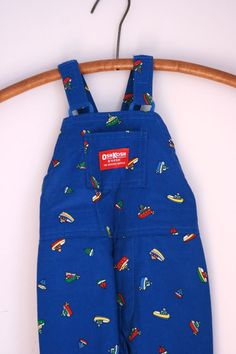 Vintage Osh Kosh overalls 2T ships and boats by fuzzymama on Etsy, $14.00