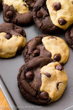 Galletas Yin Yang: | 20 Maneras diferentes de hacer galletas con chispas de chocolate