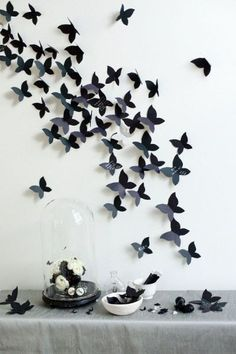 Estas simp�ticas mariposas adem�s de decorativas pueden servir para que en ellas cada invitado coloque su frase. Libros de Invitados. Imagen: Style Me Pretty