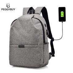 a1f2f684334af Wysokiej jakości plecaki Unisex Męskie   Damskie Płótno Anti Theft Backpack  USB Charge 15 Inch Laptop
