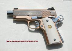 Colt 45 Texas Defender | 18k Rose Gold Colt Defender Series 90 Custom Match .45 <3