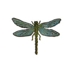 Sizzix - Tim Holtz - Alterations Collection - Bigz Die and Texture Fades - Layered Dragonfly at Scrapbook.com