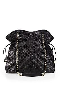Christian Louboutin Latte Pompadour Leather Shoulder Bag | Beige