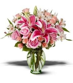 star glazer lily and rose bridal bouquet   ... this gorgeous bouquet of peach and pink roses stargazer lilies and