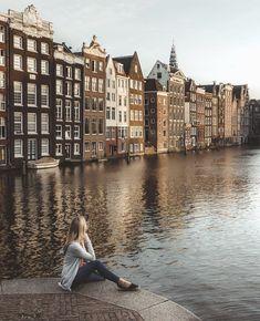 Amsterdam, Netherlands via Amsterdam City, Amsterdam Travel, Paris Travel, Amsterdam Netherlands, Amsterdam Outfit, Packing Tips For Travel, Travel Goals, Travel Guides, Travel Around The World
