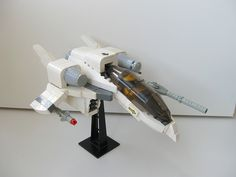 https://flic.kr/p/6JnLt8 | Sf-03 Sarissa | Another fighter, evolution of Sf-02 Epée. Short backstory: it has only one engine, so it's relatively underpowered, but relies on a powerful avionics suite. (It sounds enough militarishly)