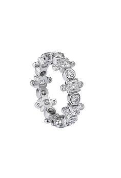 "Brides.com: 47 Unique Wedding Rings ""Curved Grace Band,"" $4,800, Karen KarchPhoto: Courtesy of Karen Karch"