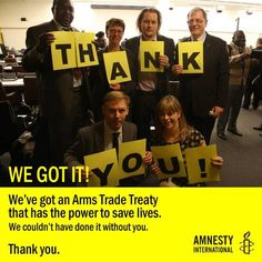 Historic signing of a Treaty on Arms Trade