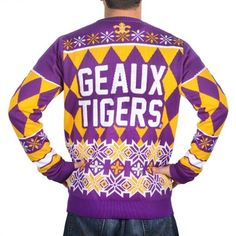 Klew LSU Tigers Purple Thematic Ugly Sweater