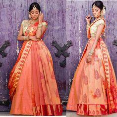 "Photography | Videography (@photon_image_) on Instagram: ""Saree in Style "" cancan saree "" Ness & Dayana | Mua @kaysmua | @photon_image_ | #tamilcouple |…"" Ghagra Saree, Lehenga Saree Design, Lehenga Style Saree, Saree Dress, Bridal Lehenga, Saree Wedding, Drape Sarees, Drape Gowns, Saree Wearing Styles"