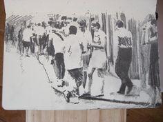 Moleskine J #129 graphite pencil drawing
