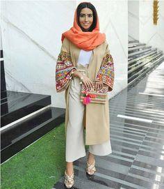 iranian women fashion Iranian women fashion trend - Iranian women fashion trend Just Trendy Girls Source by - Street Hijab Fashion, Abaya Fashion, Muslim Fashion, Modest Fashion, Women's Fashion Dresses, Fashion Clothes, Abaya Mode, Mode Hijab, Mode Kimono