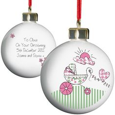 Personalised Bauble - Pram Design  from Personalised Gifts Shop - ONLY £9.99