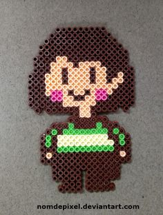 Undertale Chara Perler by NomDePixel on DeviantArt Perler Beads, Perler Bead Art, Fuse Beads, Minecraft Pattern, Minecraft Pixel Art, Undertale Pixel Art, Chara, Pixel Art Background, Iron Beads