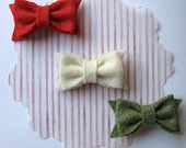 #felt #bows #red #ivory #green #holidays