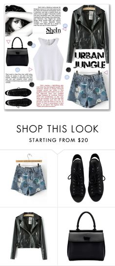 """""""urban jungle"""" by gina-m ❤ liked on Polyvore featuring Chanel, contest, white, croptop, fashionset and shein"""